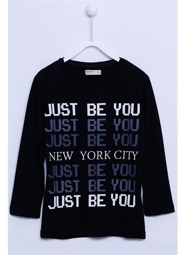 Silversun Kids Uzun Kollu T-Shirt Örme Uzun Kollu Baskılı Tişört Erkek Çocuk Bk-313275 Siyah